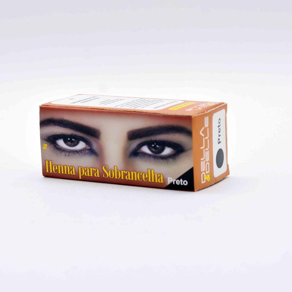 Henna para Sobrancelhas cor Preto 8g - Della E Delle