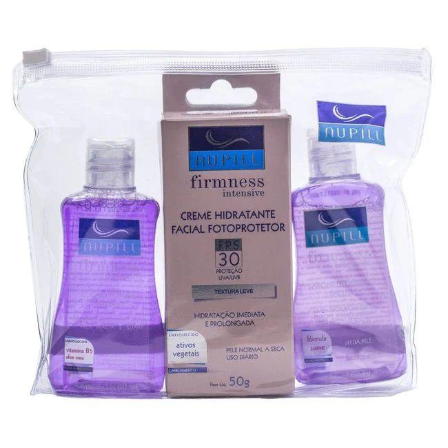 Kit Facial Firmness Intensive Sabonete + Loção Tônica Facial + Creme Hidratante Facial - Nupill