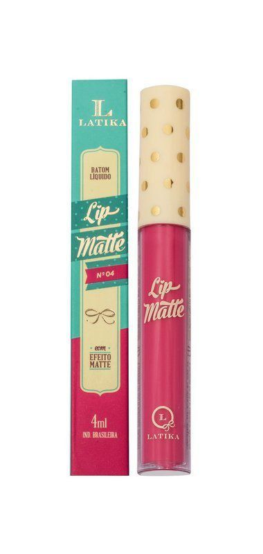 Lip Matte Batom Cor 04  4ml - Latika