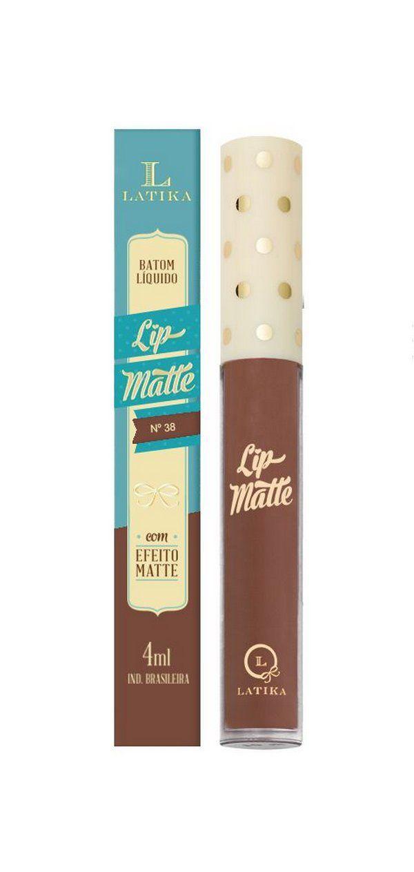 Lip Matte Batom Cor 38  4ml - Latika