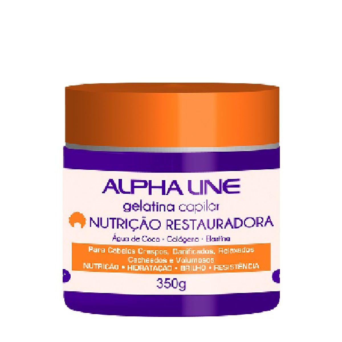Manteiga Capilar Nutrição Restauradora 350g - Alpha Line