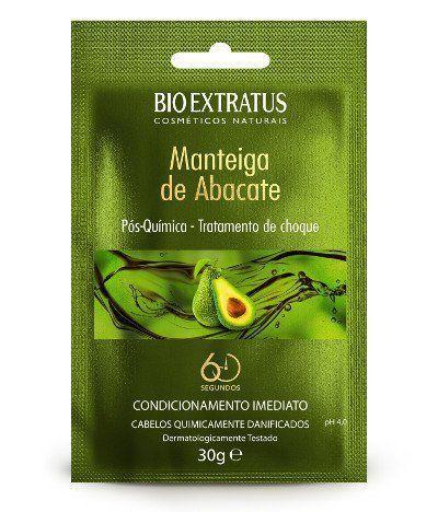 Manteiga de Abacate Pós Química Tratamento de Choque - 30g - Bio Extratus