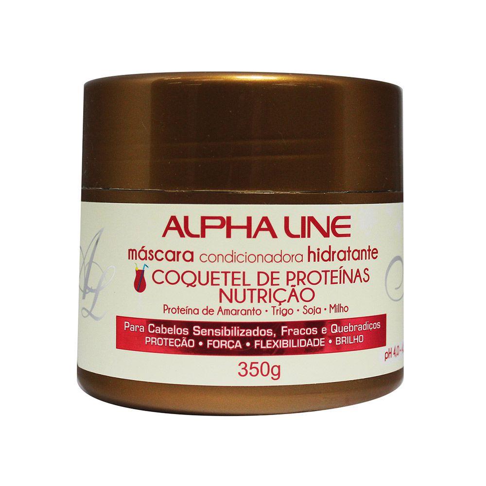 Máscara Coquetel de Proteínas 350g - Alpha Line