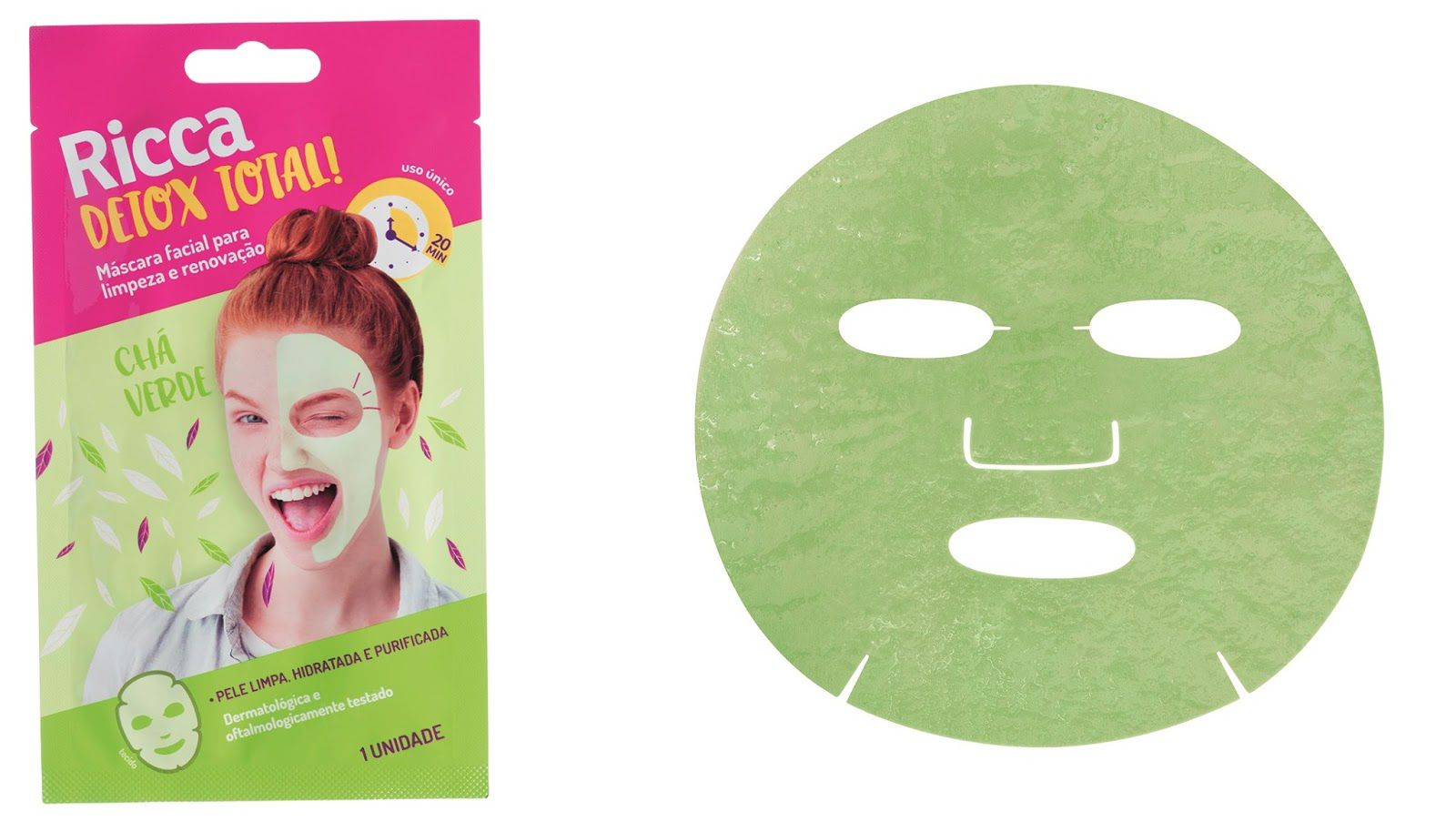 Máscara de Limpeza Facial Detox Total! - 1 unid. - Ricca