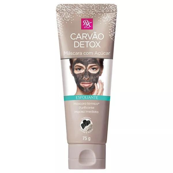 Máscara Esfoliante Facial Carvão Detox Com Açucar 75g - Rk By Kiss