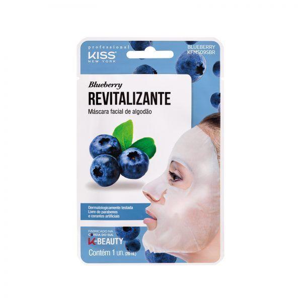 Máscara Facial de Algodão - Blueberry - Kiss Ny