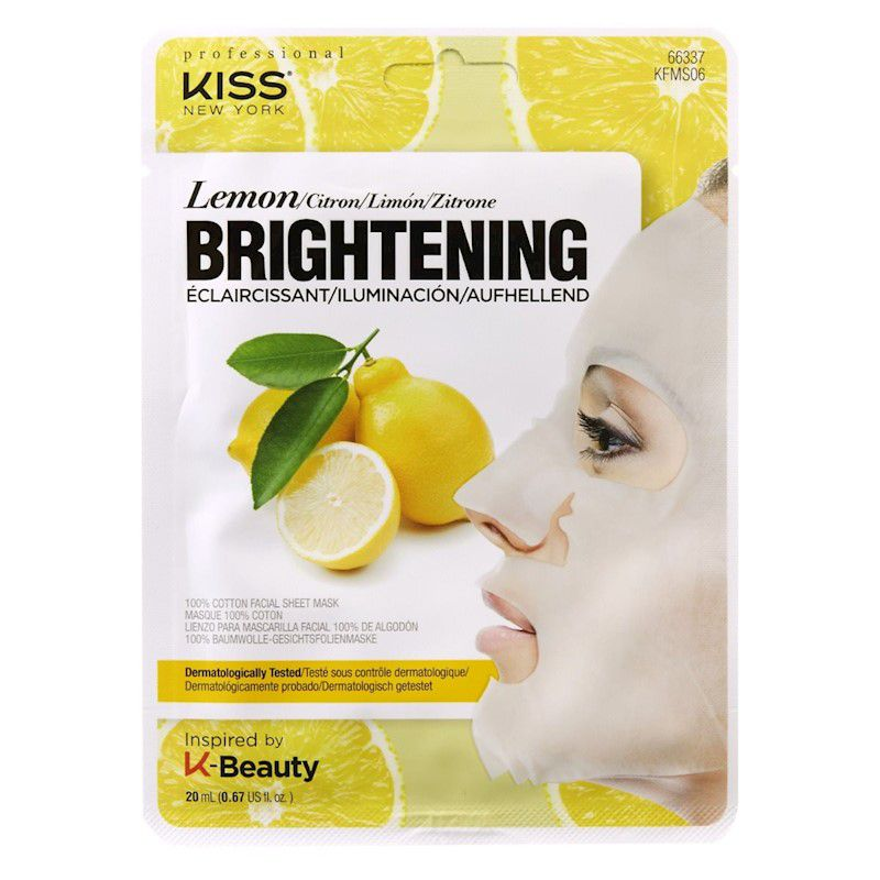 Máscara Facial de Algodão Limão, Iluminador da pele 1 unid - Kiss NY