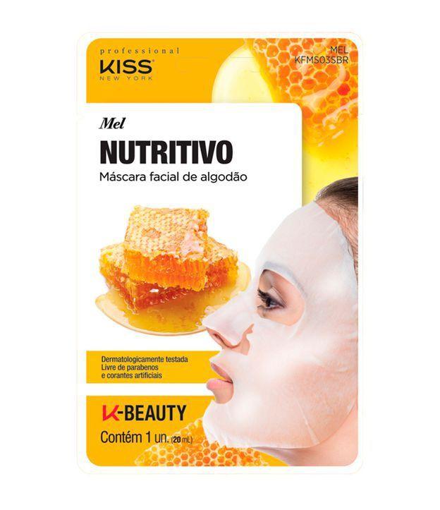 Máscara Facial de Algodão  Mel, Nutritiva e Revigorante 1 unid - Kiss NY