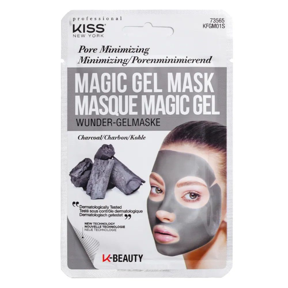 Máscara Facial Kiss New York - Magic Gel Mask Carvão - 1 Un