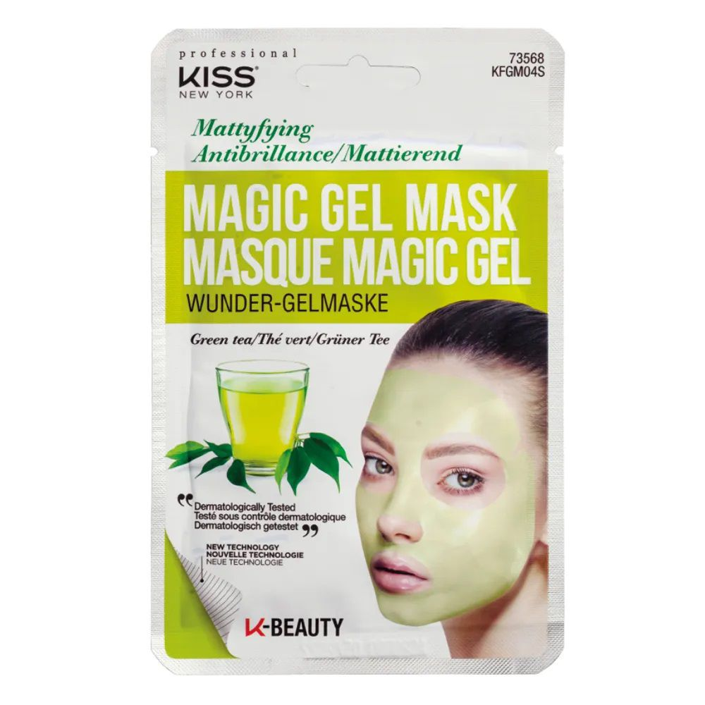 Máscara Facial Kiss New York - Magic Gel Mask Cha Verde - 1 Un