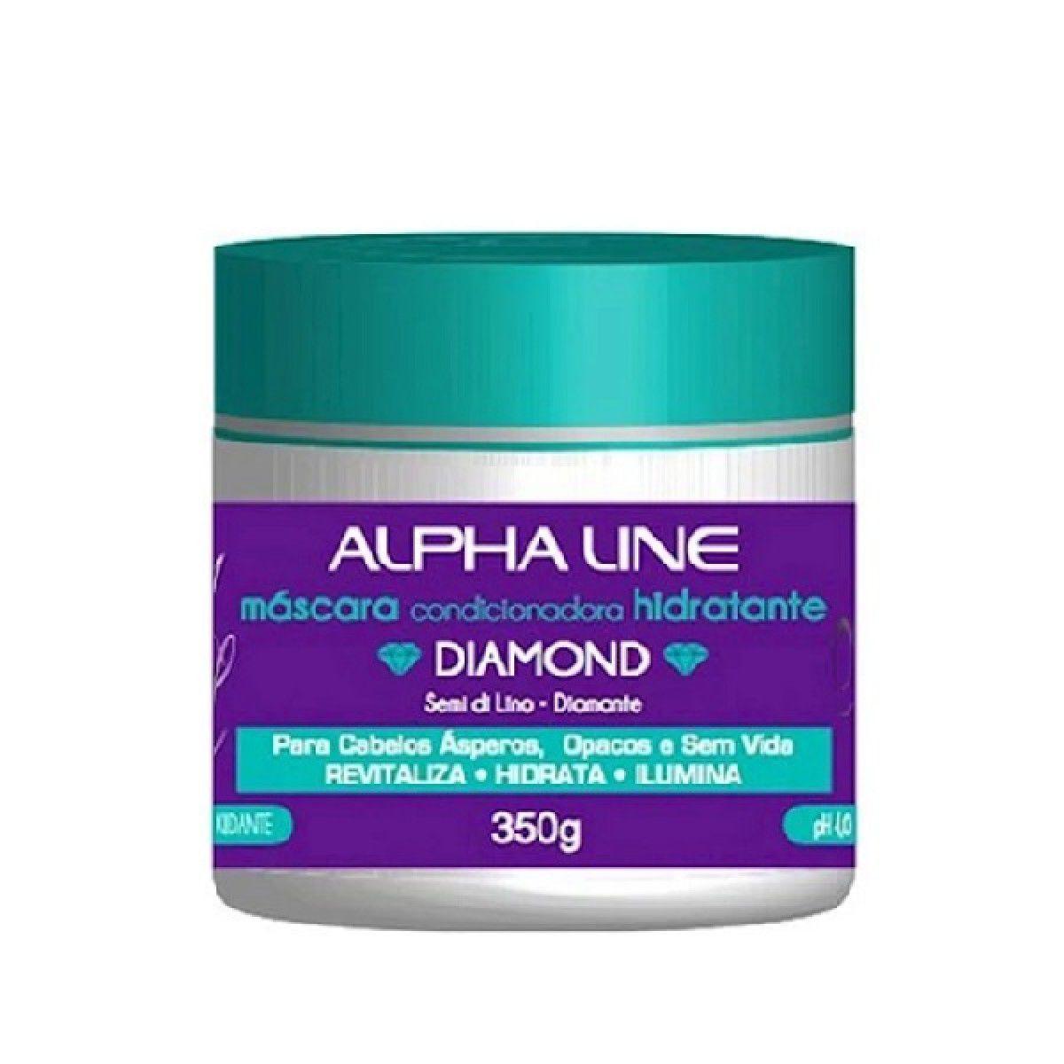 Máscara Hidratante Diamond 350g - Alpha Line