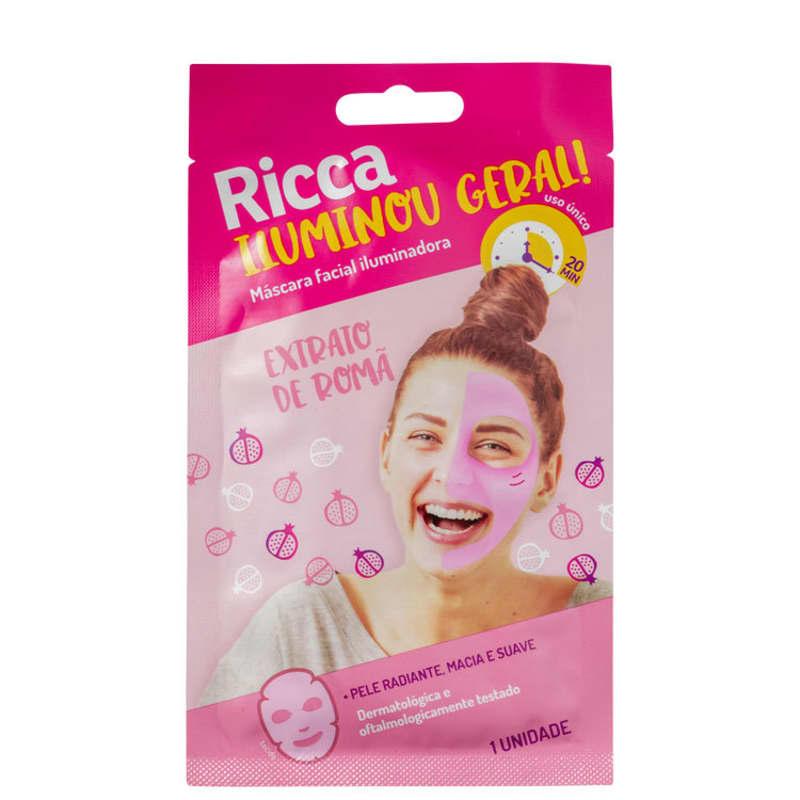 Máscara  luminadora Facial Iluminou Geral!  - 1 unid. - Ricca