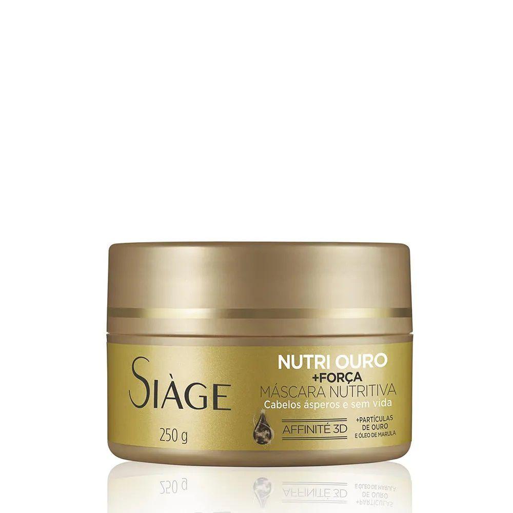 Máscara Nutritiva Nutri Ouro + Força - 250g - Siage
