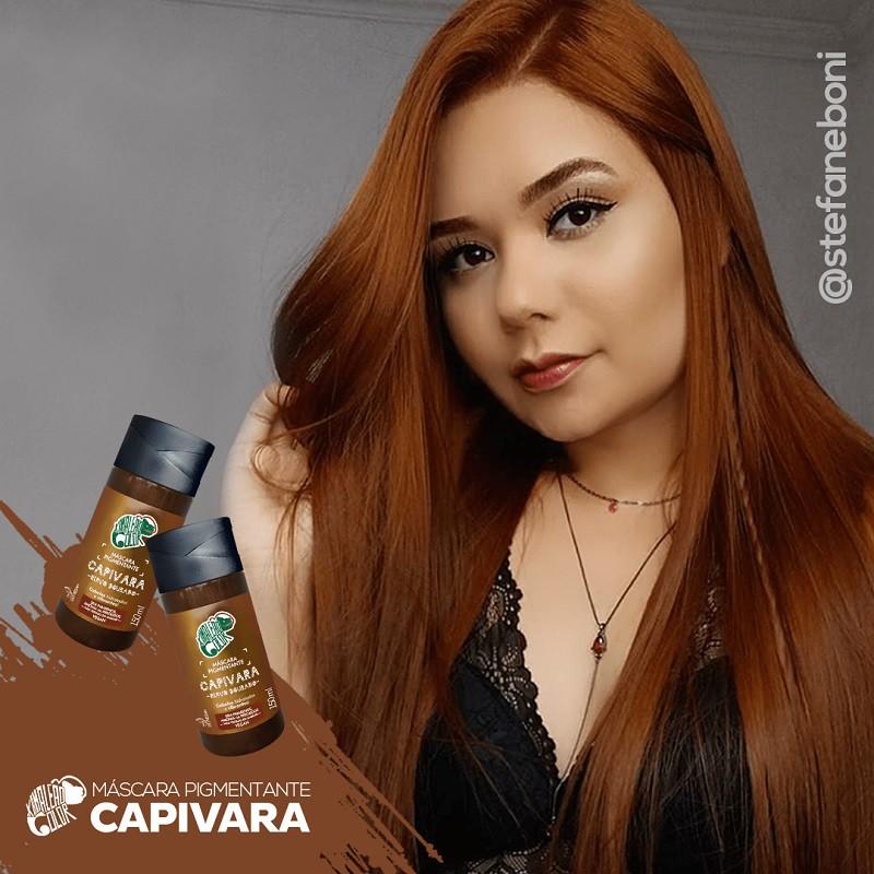 Máscara Pigmentante Capivara - Ruivo Dourado 150ml - Kamaleão Color