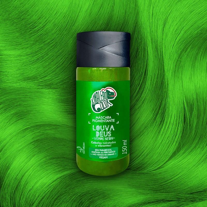 Máscara Pigmentante  Louva Deus - Verde Neon 150ml - Kamaleão Color