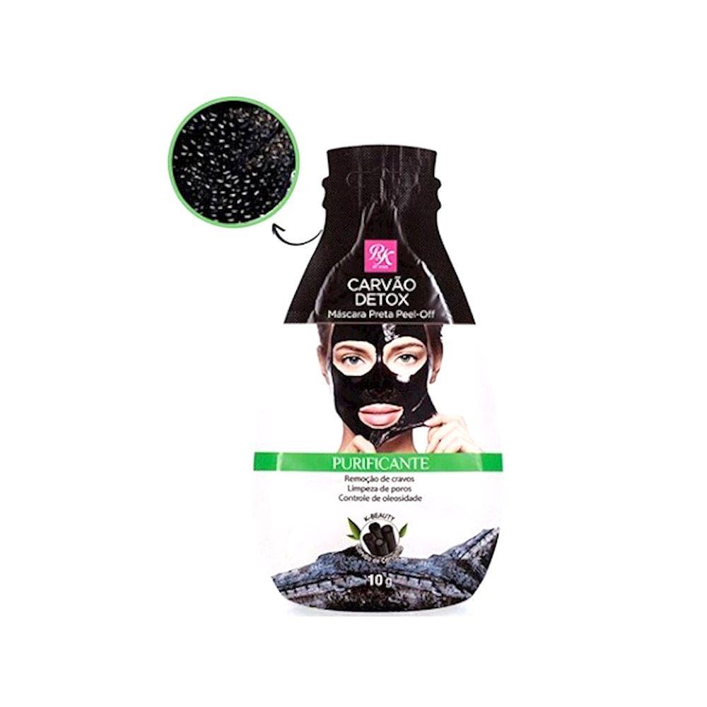 Máscara Preta Facial Peel Off Carvão Detox 10g - Rk By Kiss