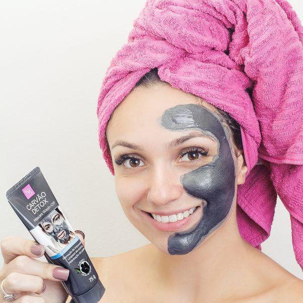 Máscara Wash-off Carvão Detox  Hidratante - 75g - RK by Kiss
