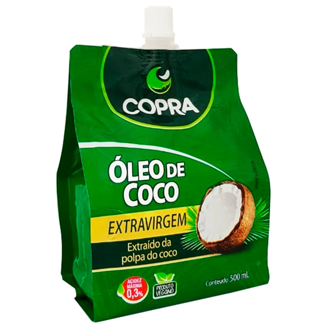 Óleo de Coco Extra Virgem Sache - 500 ml-Copra