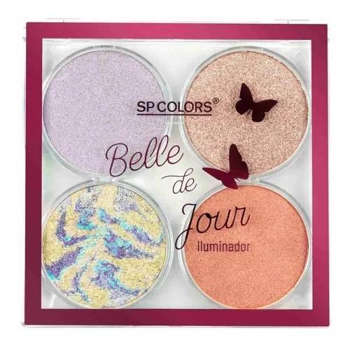 Paleta de Iluminador- 4 cores - Belle de Jour - SP Colors