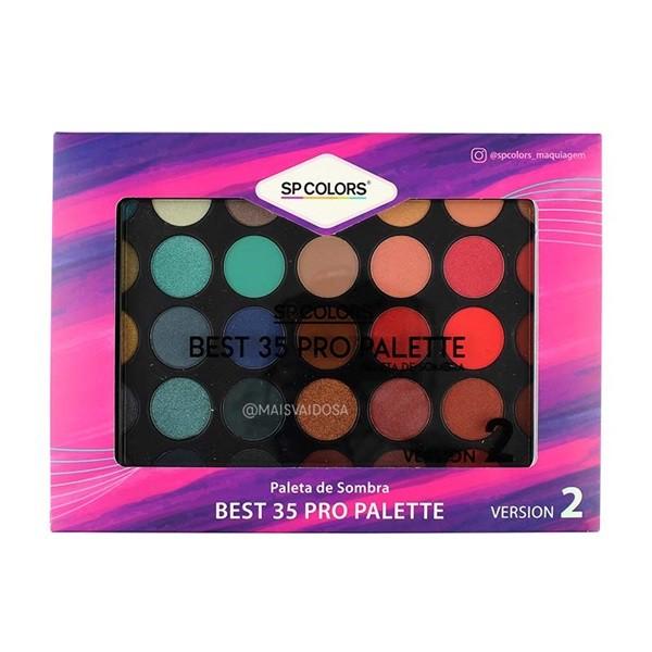 Paleta de Sombra Best 35 Pro Palette Versão 2 - SP Colors