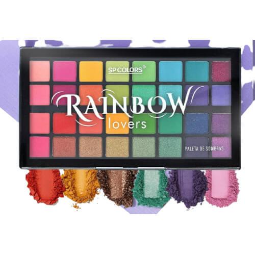 Paleta de Sombras 32 Cores Rainbow Lovers -Sp Colors