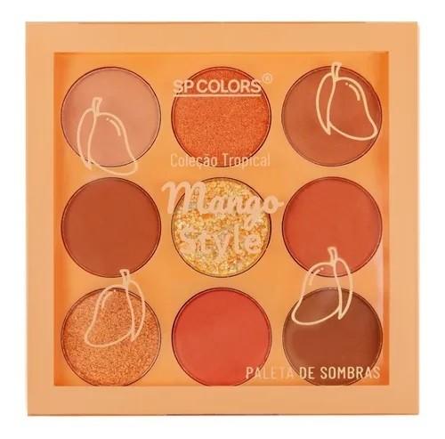 Paleta de Sombras 9 cores Coleção Tropical - Mango Style - SP Colors