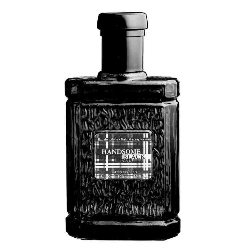 Perfume  Handsome Black Masculino -Eau de Toilette 100ml - Paris Elysees