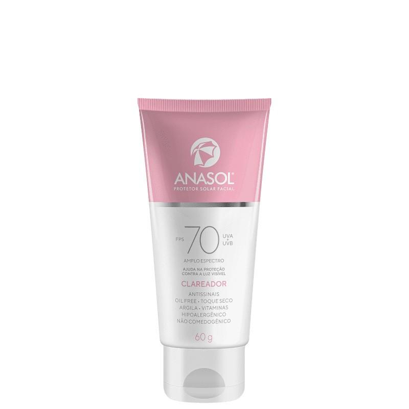 Protetor Solar Facial Clareador FPS 70 - 60g - Anasol