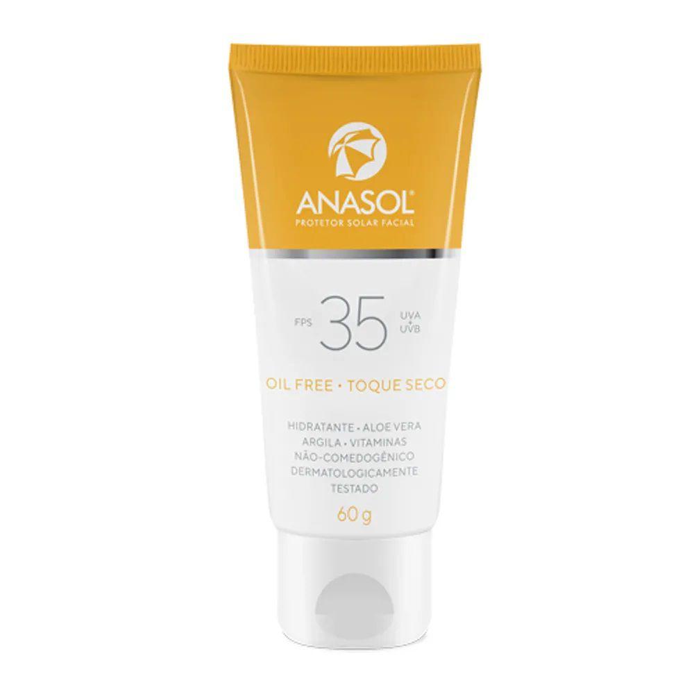 Protetor Solar Facial FPS 35  - 60g - Anasol