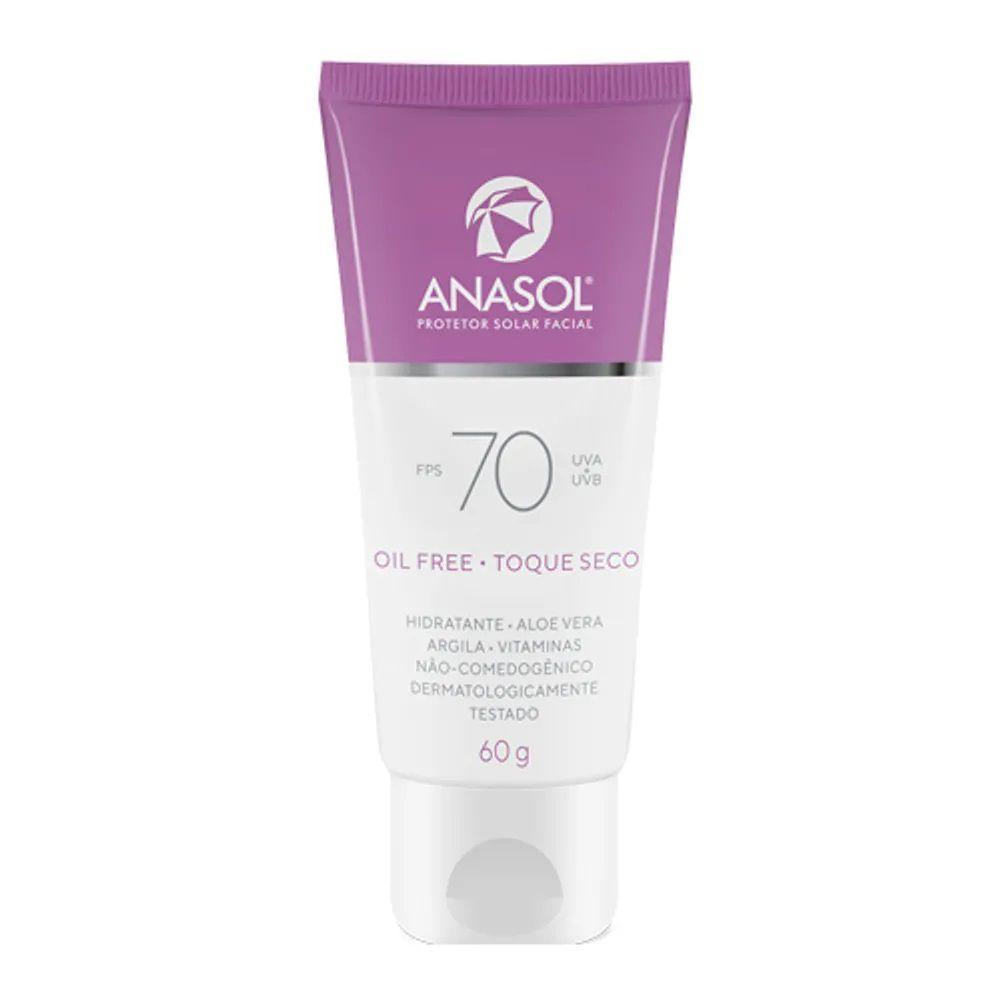 Protetor Solar Facial FPS 70 - 60g - Anasol