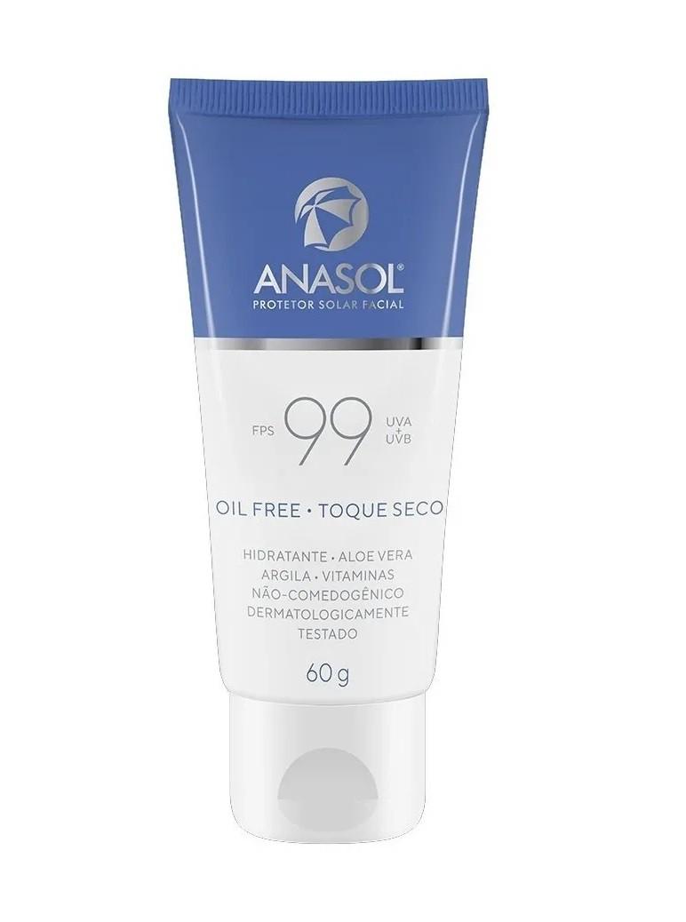 Protetor Solar Facial FPS 99 -60g - Anasol
