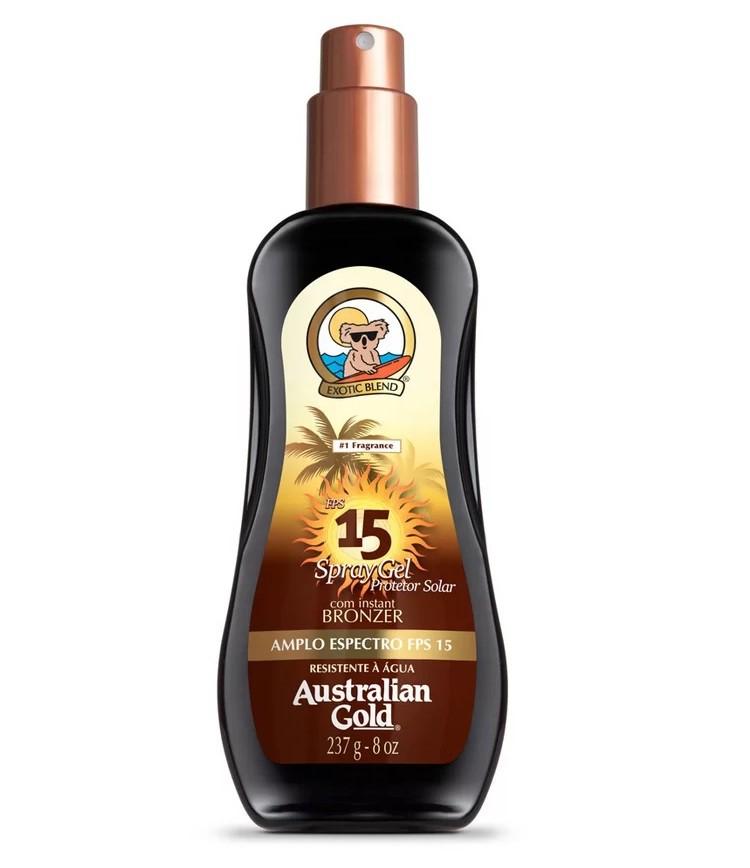 Protetor Solar FPS 15 Instant Bronzer Spray Gel 125ml - Australian Gold