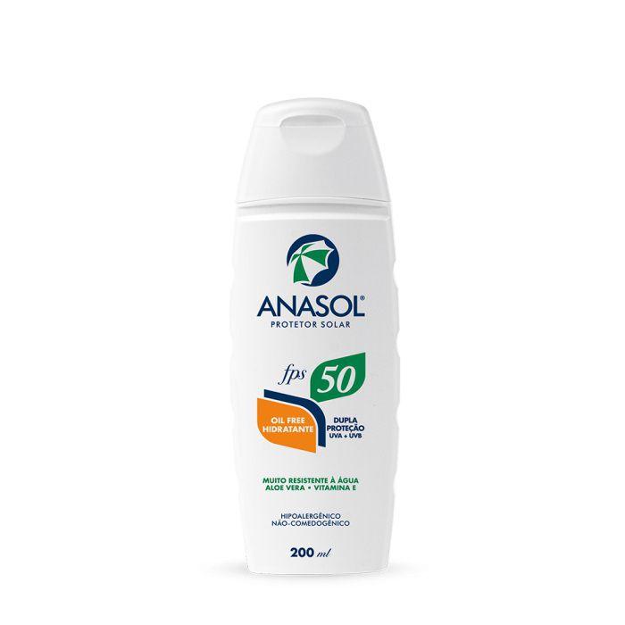 Protetor Solar Loção FPS 50 200ml - Anasol