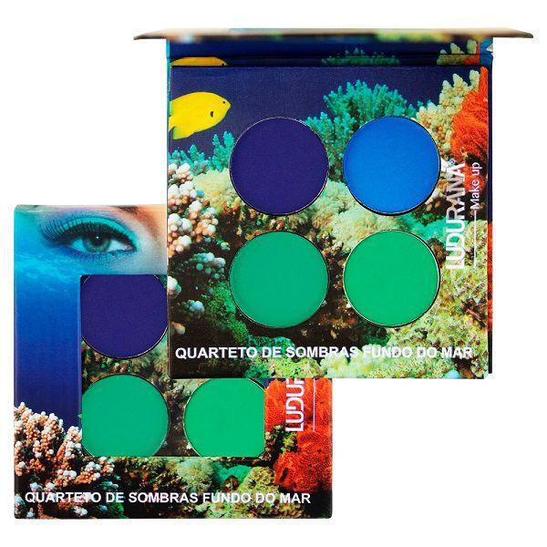 Quarteto de Sombras Matte - Fundo do Mar - Ludurana