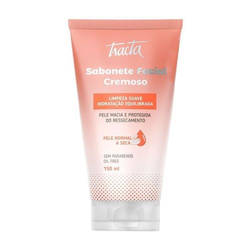 Sabonete Facial Cremoso Pele Normal a Seca - 150ml - Tracta