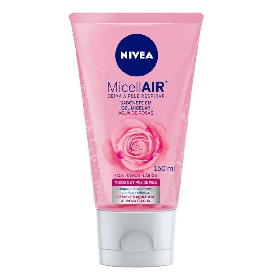 Sabonete Gel Facial  MicellAIR Água de Rosas 150ml- Nivea
