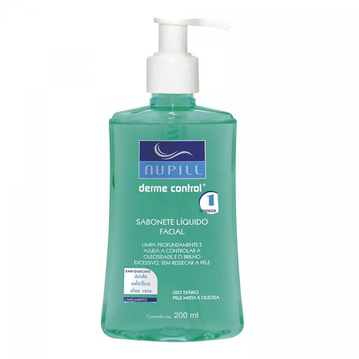 Sabonete Liquido Facia Derme Control 200ml-Nupill