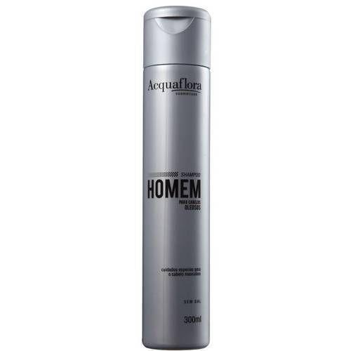 Shampoo Homem Cabelos Oleosos 300ml- Acquaflora