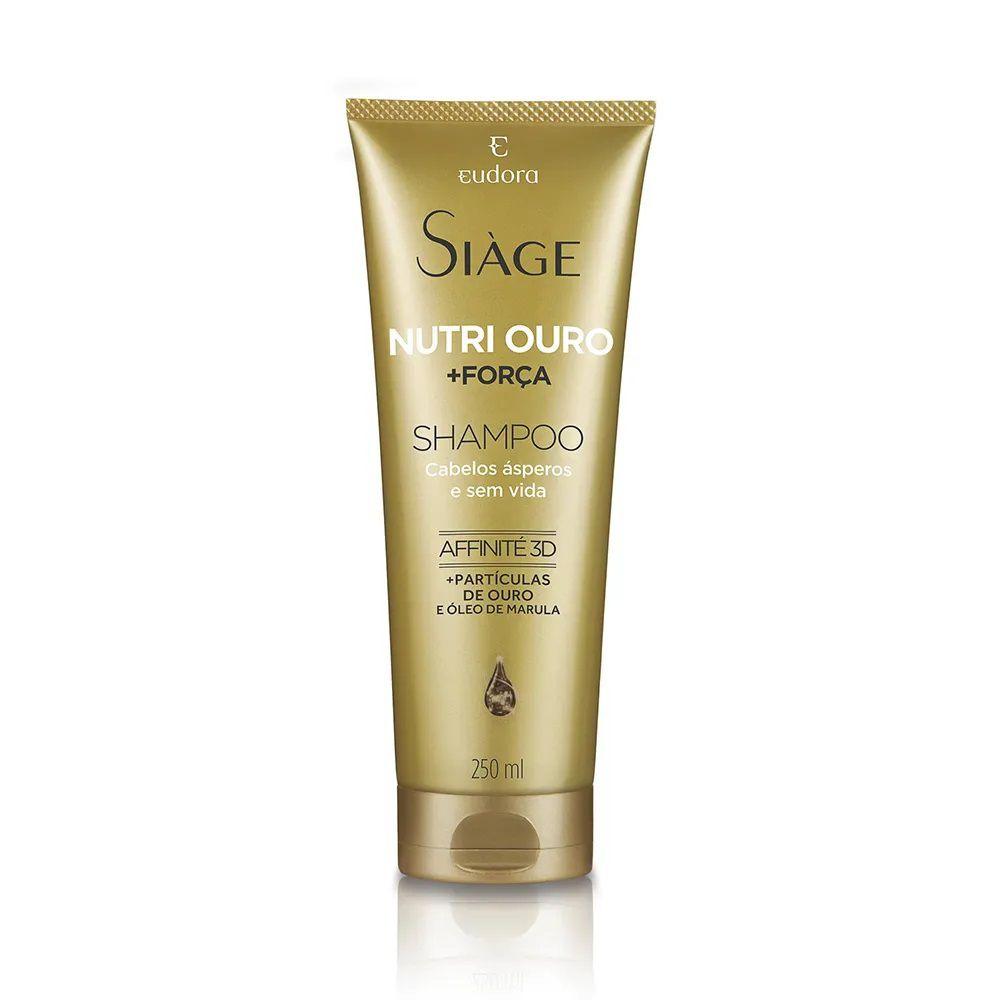 Shampoo Nutri Ouro + Força - 250 ml - Siage