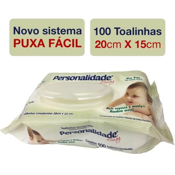 Toalhas Umedecidas com Tampa - 100 unid- Personalidade Baby