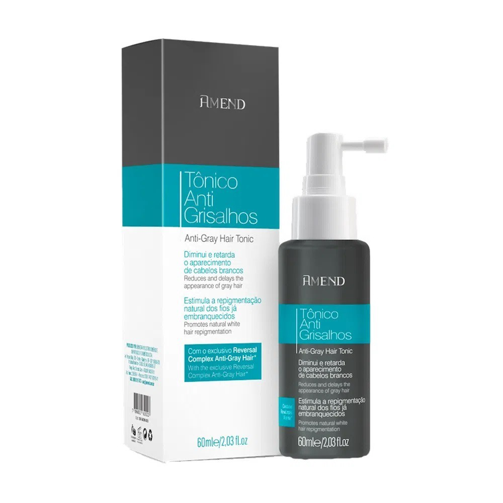 Tônico Capilar Anti Grisalhos 60ml - Amend