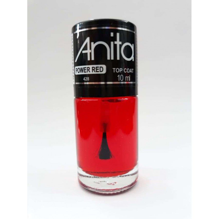 Top Coat Power Red 10ml - Anita