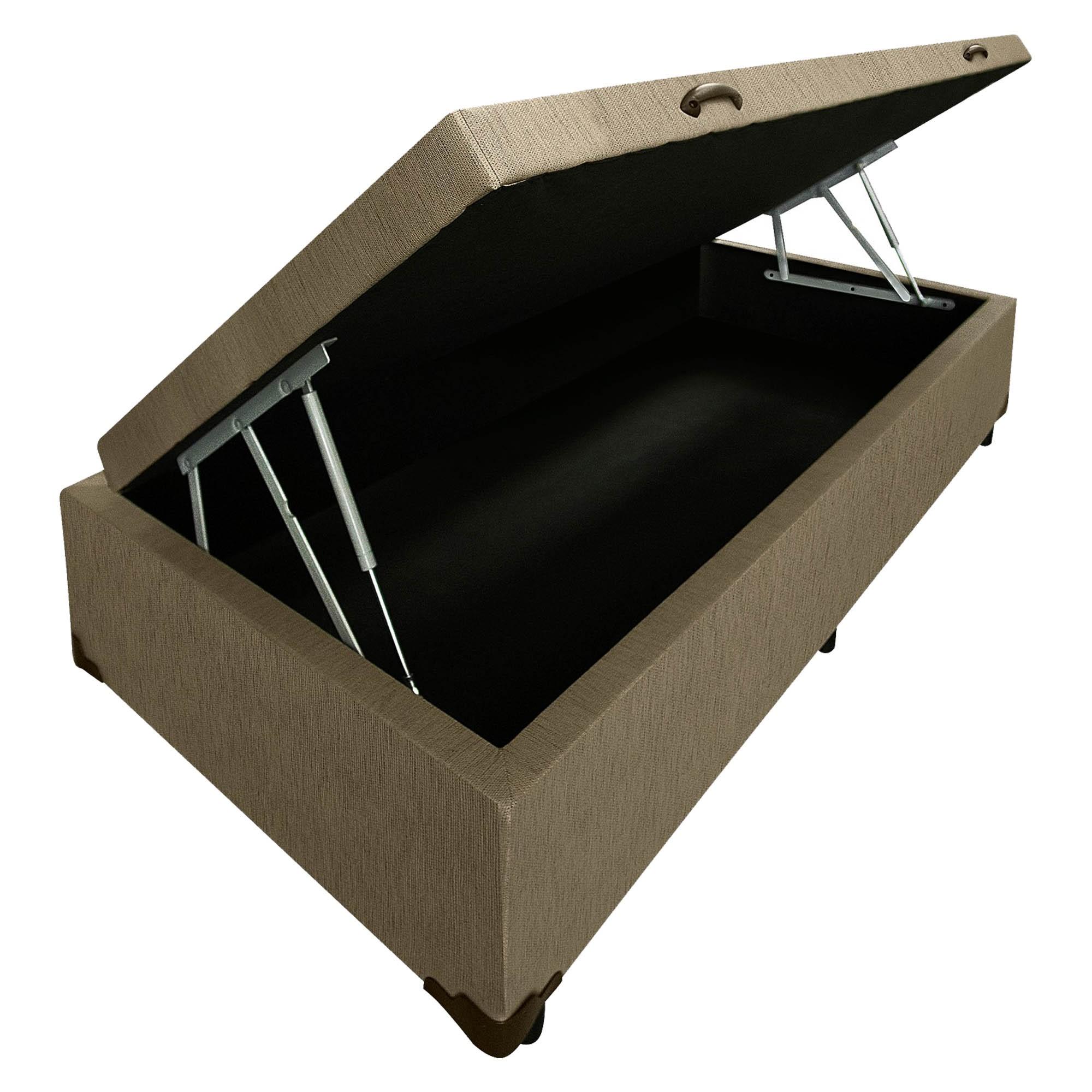 Box Baú Linhão Caqui [Solteiro 078 x 188 cm]