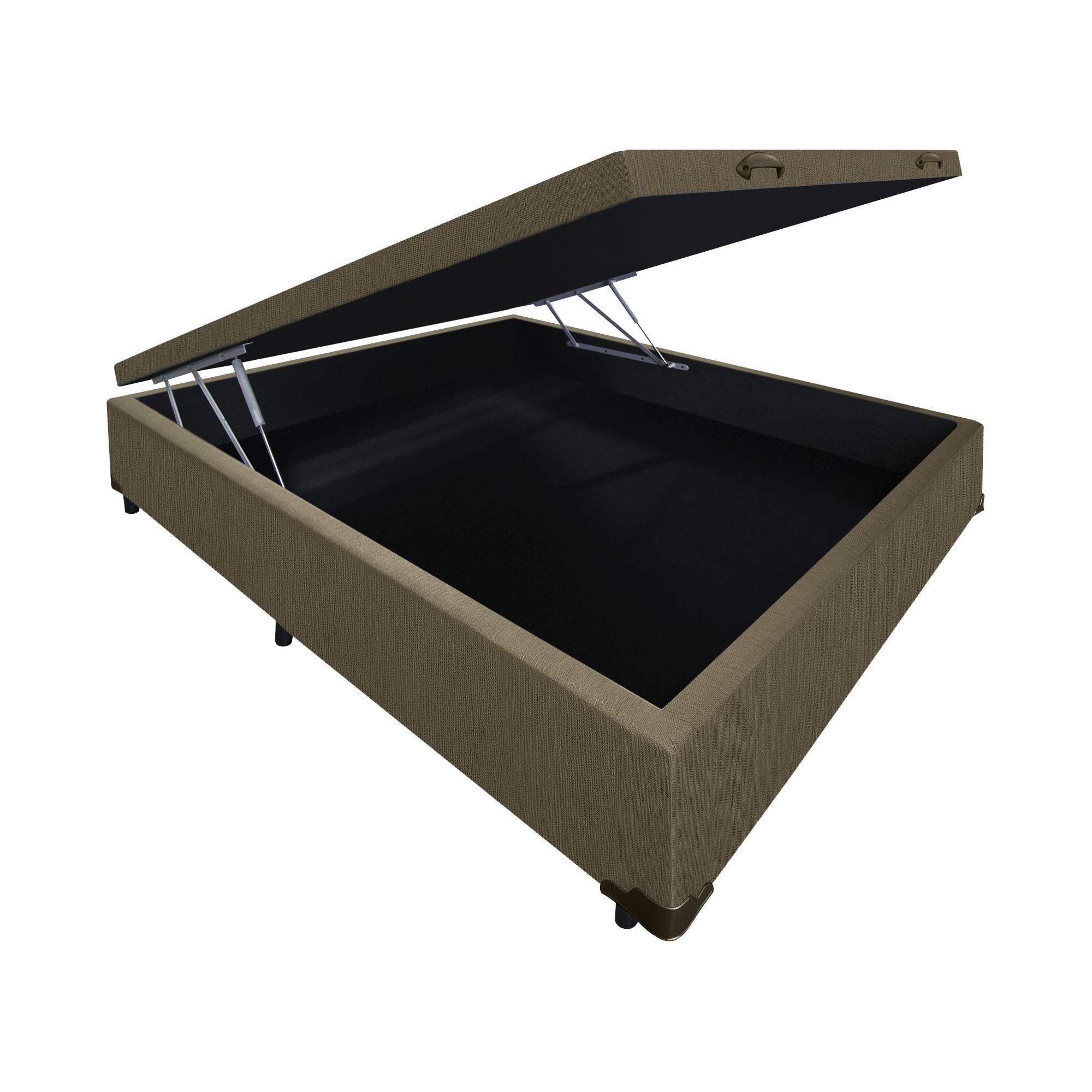 Box Baú Linhão Caqui [Casal 138 x 188 cm]