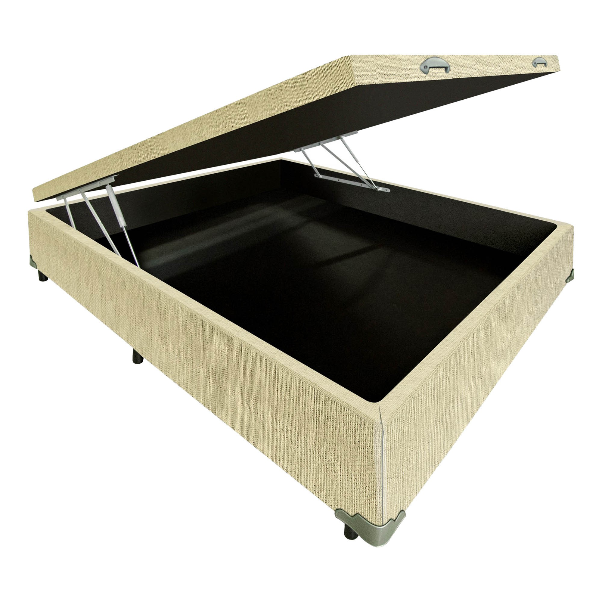 Box Baú Linhão Palha [Casal 138 x 188 cm]