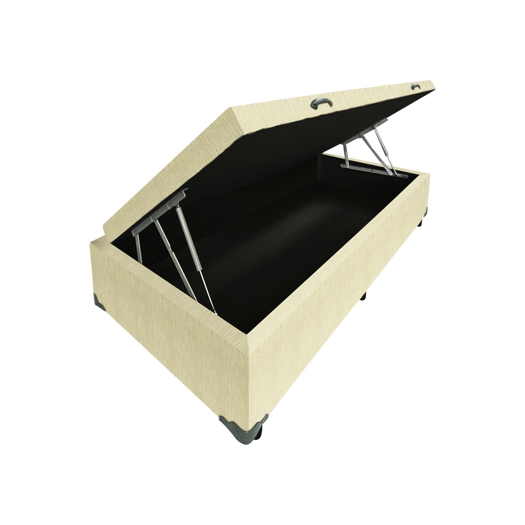 Box Baú Linhão Palha [Solteiro 078 x 188 cm]