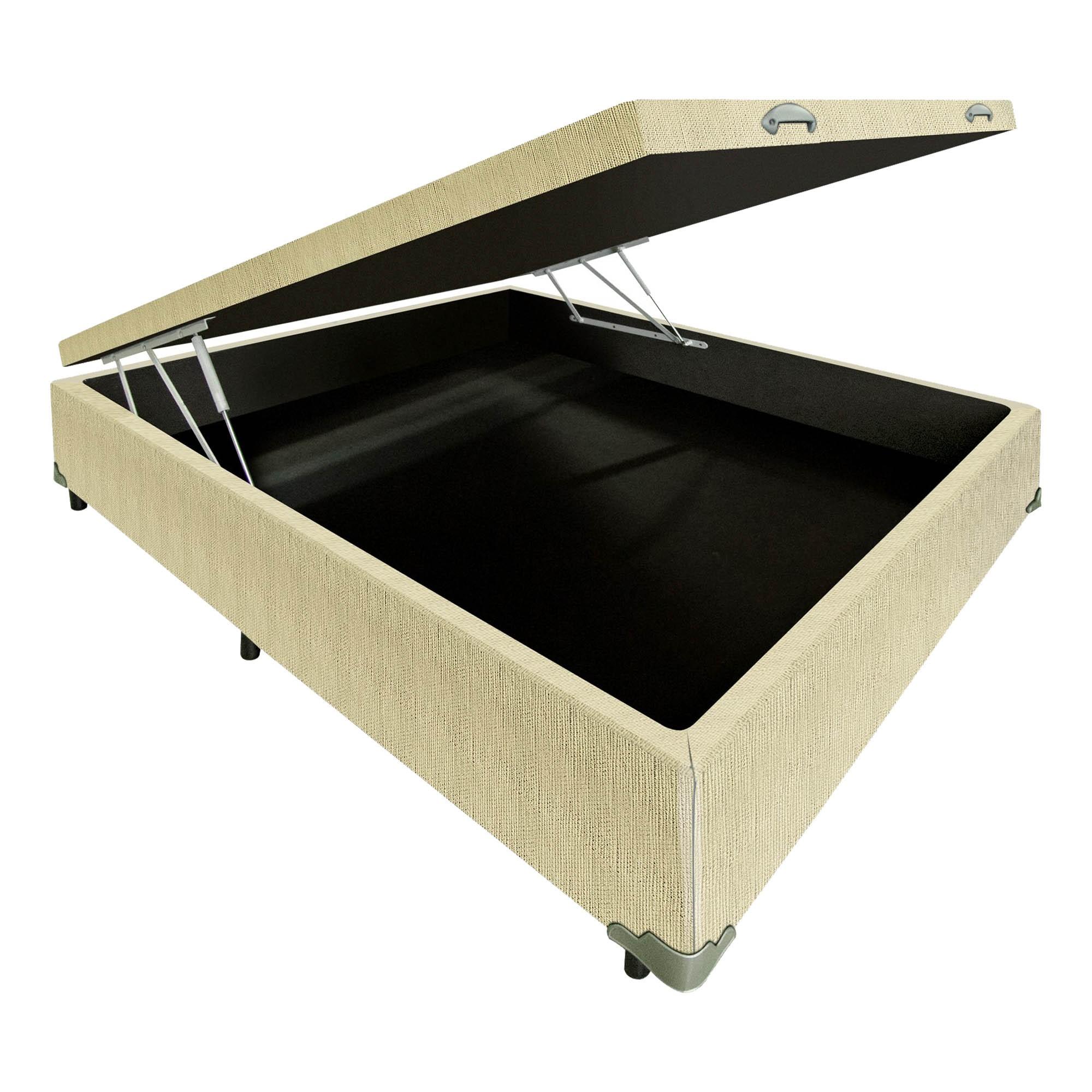 Box Baú Linhão Palha [Viúva 120 x 203 cm]