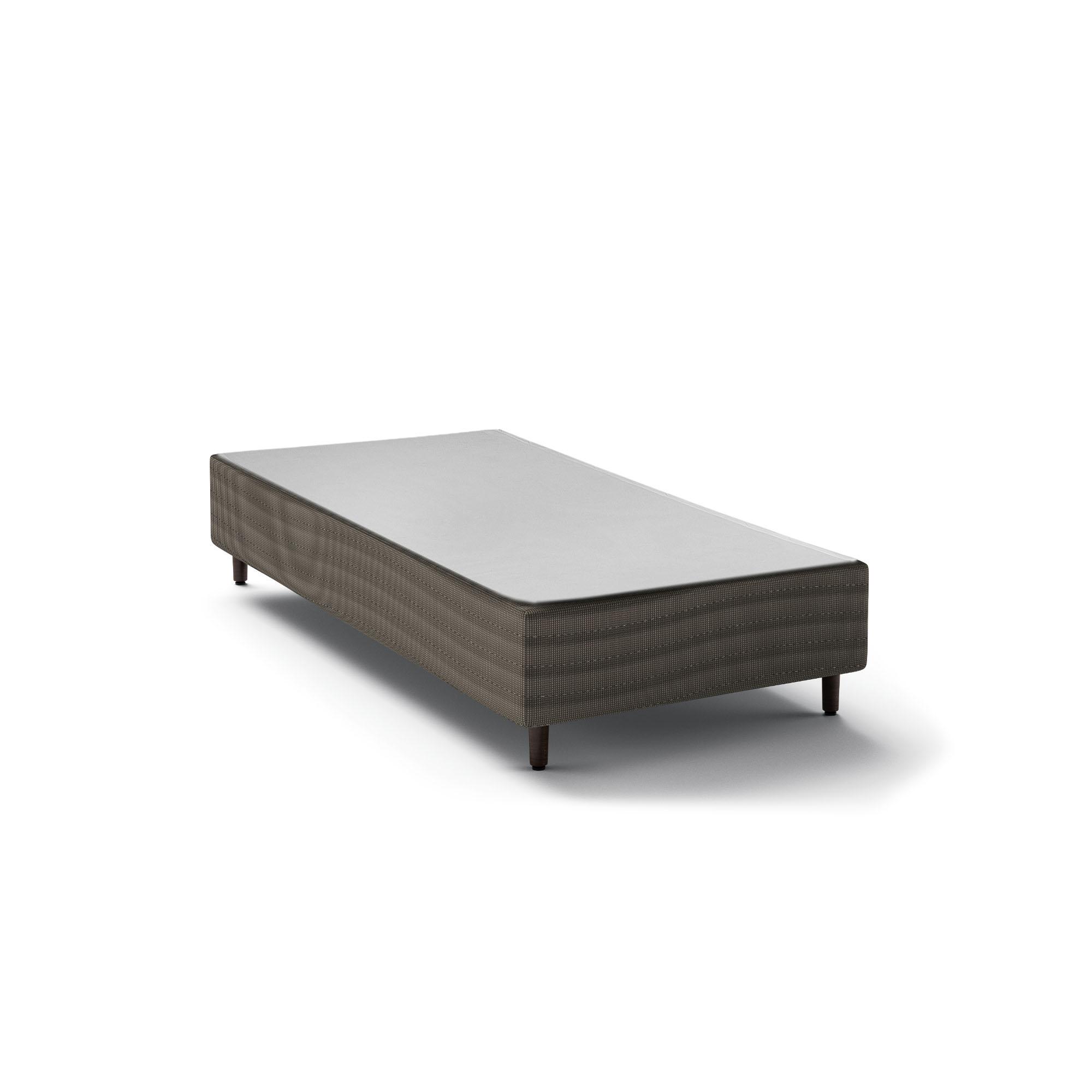 Box Epeda Basic Cinza 30 cm [Solteiro 088 x 188 cm]