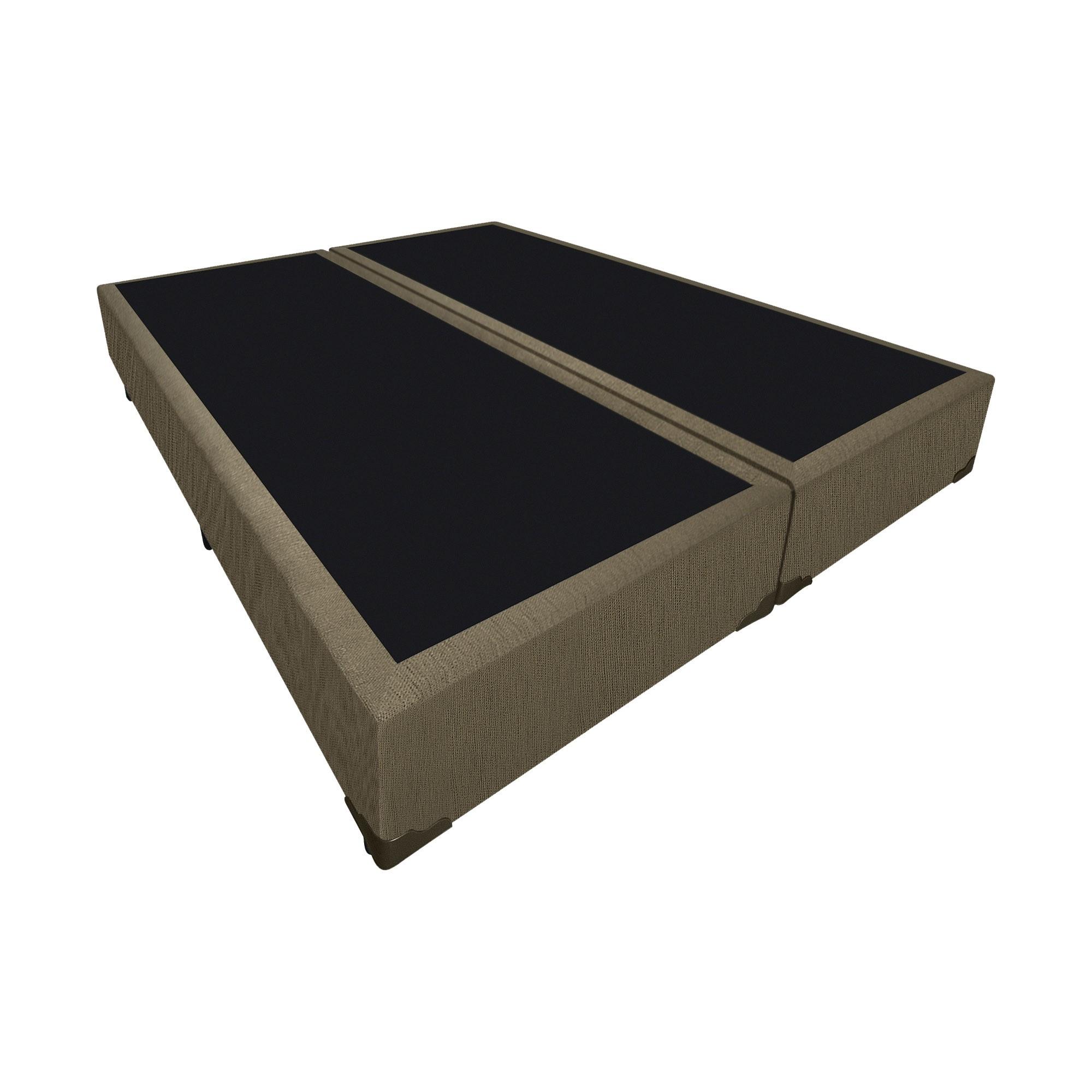 Box Tradicional Linhão Caqui [Casal bi-partido 138 x 188 cm]