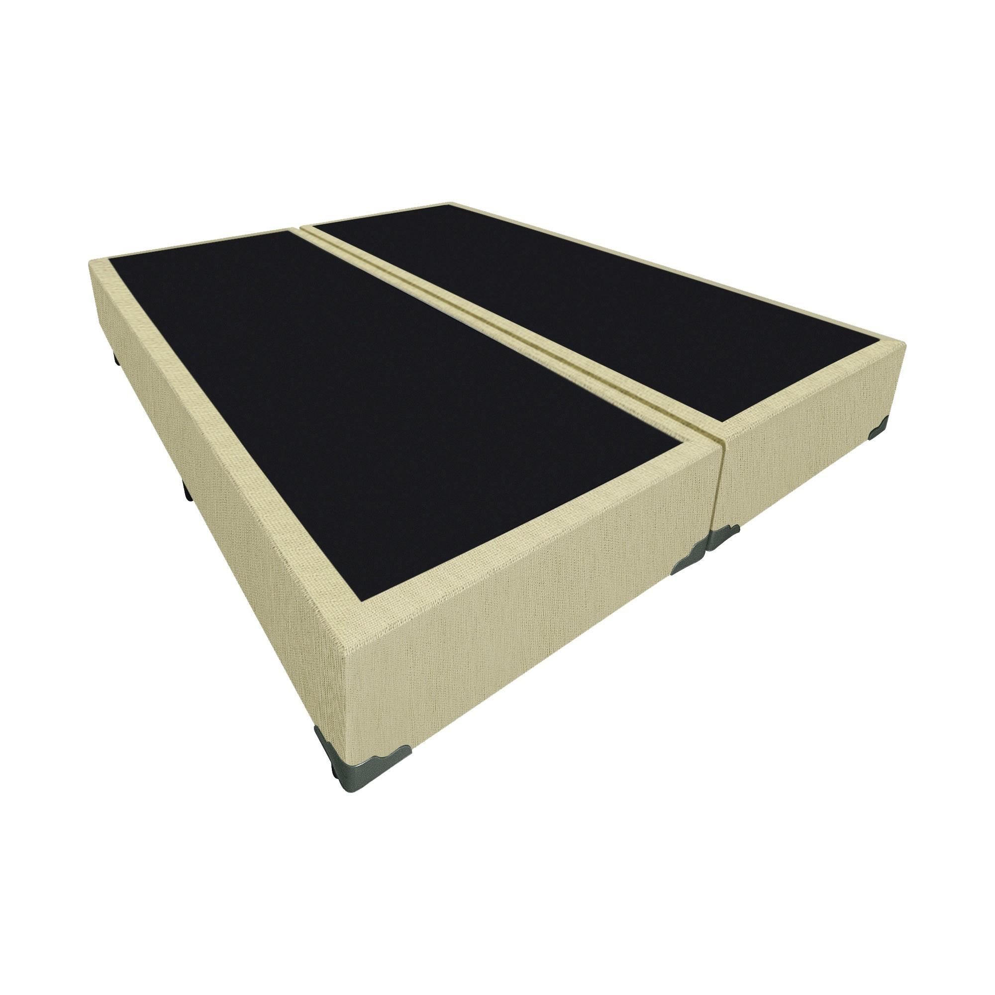 Box Tradicional Linhão Palha [Casal bi-partido 138 x 188 cm]
